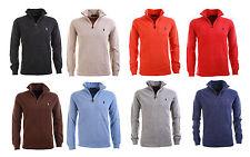 Polo Ralph Lauren Zip Troyer Pullover Strickpulli Stehkragen Pulli 8 Farben