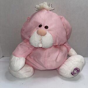 Fisher Price Vintage Puffalump Pink & White Bunny Plush Toy 1986 8004