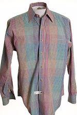 Gitman Bros Brothers Mens sz M Blue Multicolored Plaid LS Button Up Shirt