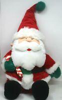 "Vintage 1993 Stuffins Santa Claus Plush Christmas Holding CandyCane 14"" Tall D-8"