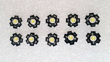 10pcs 3W Cold white 45mil 3V - 3.6V 700ma 15000K LED Chip with 20mm Star Bead
