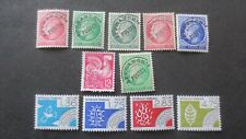 Lot de 11 timbres pré oblitérés