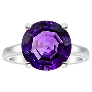Amethyst 925 Sterling Silver Ring s.6 Jewelry E519