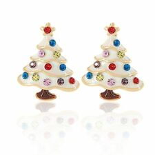 Gift For Ladies Girls Kids Christmas Pine Tree Ear Cuff Stud Earring Jewelry