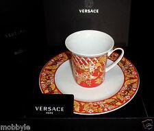Rosenthal Versace Bright Christmas Set 2tlg  Becher mit Henkel /Frühstücksteller