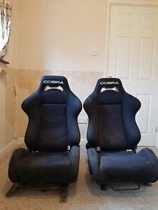 Cobra Daytona Reclining Bucket Seats With Subframes To Suit Ford Fiesta Mk 5