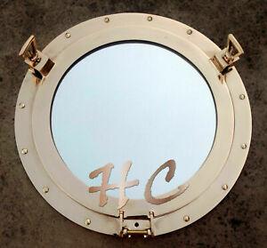 Marine Brass Porthole Nautical Boat Ship 17'' Porthole Window Mirror