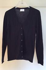 Damen Pullover Jacke Strickjacke Gr. S von ALLUDE 30% Cashmere dunkelblau