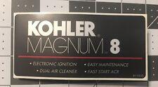 Kohler Engine 8-HP Wheel Horse Troy Bilt M8 Red, black & silver decal
