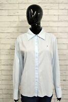 TOMMY HILFIGER M Camicia Donna Maglia Blusa Polo Shirt Woman Manica Lunga
