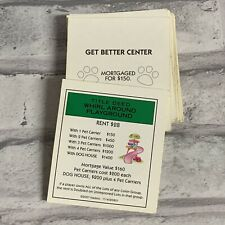 Title Deed Cards Replacement Monopoly Littlest Pet Shop Edition 28 Cards