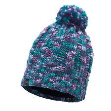 Buff Ski Livy Primaloft Knitted Beanie Bobble Hat Turquoise
