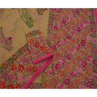 Tcw  New Black Heavy Dupatta Hand Embroidered Phulkari Stole Chanderi Silk