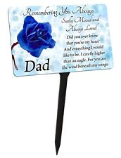 David Fischhoff Special Dad Graveside Oval Memorial Plaque on a Stick