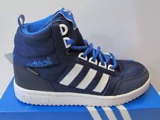 Tamaño de Reino Unido niños 12.5 Adidas Pro Play Primaloft Unisex Hi Top Zapatillas-Azul Marino/Blanco