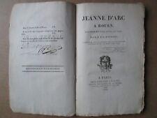 AVRIGNY : JEANNE D'ARC A ROUEN tragédie, 1819.