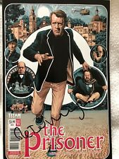 Titan comics The  Prisoner Patrick Mcgoohan Issue One Comic Signed By Writer