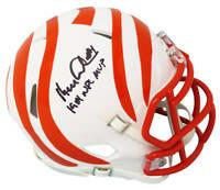 Ken Anderson Signed Bengals White Matte Riddell Mini Helmet w/81 MVP - SS COA