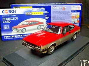 WOW EXTREMELY RARE 1/43 VANGUARDS FORD CAPRI MK3 CARDINAL RED / SILVER NLA
