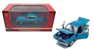 "1:32 Scale ""Mediterranean Blue"" Holden Torana LJ GTR XU-1 Oz Legends Diecast Car"