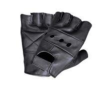 Unik Unisex Fingerless Weightlifting Style Motorcycle Biker Leather Gloves