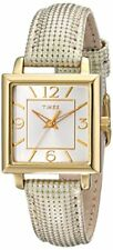 Timex Women's Elevated Classics Gold-Tone Square Watch T2P379