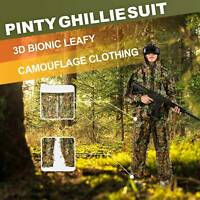 Leafy Ghillie Suit 3D Bionic Leafy Camo Clothing for Hunting Airsoft with Zipper