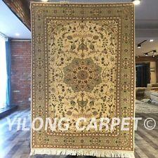 Clearance! Yilong 4'x6' Handmade Wool Rug Traditional Blanket Carpet 2048