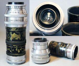 "DALLMEYER DALLON TELE-ANASTIGMAT 6"" f5.6 Lens REFLEX KORELLE Screw mount + TUBES"
