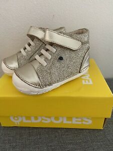 Old Soles Gold Glitter Reach Pave Shoes Size 21 Brand New In Box