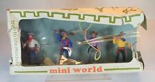 Timpo Toys Mini World 4 Cowboys 2.Version in seltener Scandinavian Box #1153