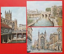 Beautiful Collection of 3 Brand New Bath Art Postcards by Sue Firth