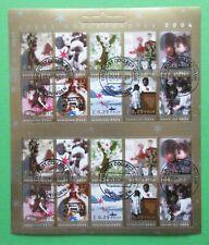 Nederland V  2306 - 2315 Compleet Kerst vel  Goede doelen 2004 mooi gestempeld