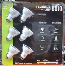 6 x Luminus GU10 5.5w LED Recessed Downlights 400 Lumens 60w Halogen 3000K