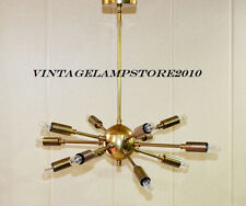 Vintage sputnik chandelier ebay industrial vintage antique brass hanging ceiling sputnik chandelier with 12 arms mozeypictures Image collections
