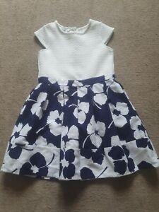 Girls Jasper Conran Dress Navy And White Age 5-6