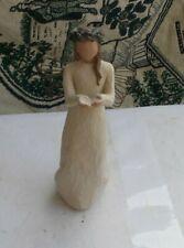 "Nice Vintage Willow Tree Demdaco Figurine Statue Angel Of Christmas Spirit 8.5"""