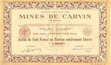 SA des Mines de Carvin (Pas-de-Calais), accion, Carvin, 1937