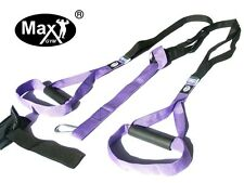 MaxGym® trainer. Body Trainer. Suspension Straps. Home Fitness purples