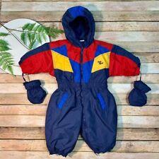 Vintage 80's 90's Oshkosh Baby B'Gosh Hooded Snowsuit Size 12 M