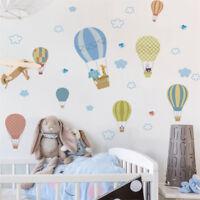 animals fire balloon removable wall decals sticker kids baby nursery room de bV
