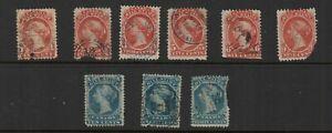 Canada Revenue Van Damme #FB18//29 Bill stamps set used (1864)!