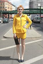 Courtelle Damen gelb Zweiteiler Hose Pants Shirt yellow 44 70er True VINTAGE 70s