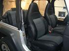 Jeep Wrangler Tj Sahara 1997-2002 Blackcharcoal Iggee S.leather Seat Cover