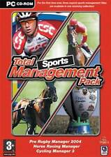 Horse Racing, Cycling 3, Rugby Manager 2004 - 3 Pack Pc