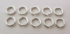10x 925 Genuine Solid Sterling Silver Open Jump Rings 6 Mm Diameter