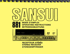 Sansui 881 Receiver OWNER'S MANUAL and SERVICE MANUAL