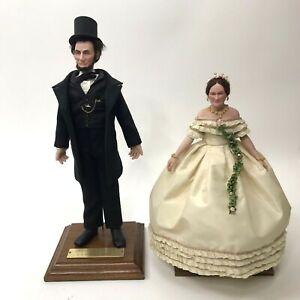 US Historical Society Abraham Mary Todd Lincoln Living Image Doll Set Historical