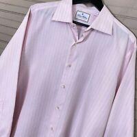 Brooks Brothers Thomas Mason Madison Fit Textured Dress Shirt Men's Size 17/34