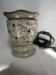 Scentsy Milano Full Size Warmer Renaissance Blue and Brown